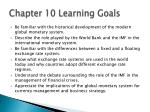 chapter 10 learning goals