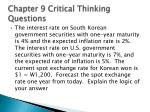 chapter 9 critical thinking questions