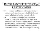 important effects of ph partitioning