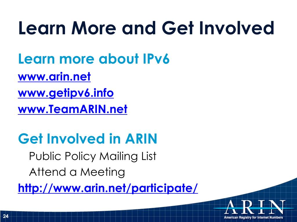 Learn more about IPv6
