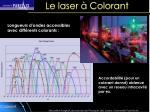 le laser colorant55