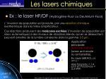 les lasers chimiques