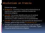 absolutismo en francia