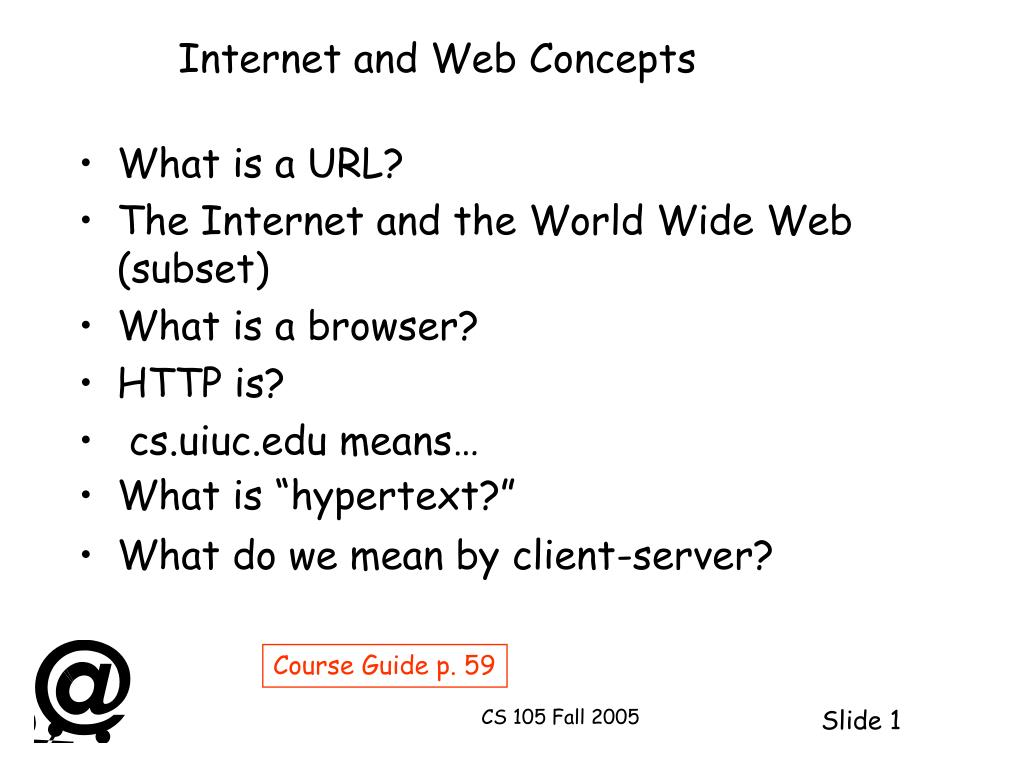 internet and web concepts