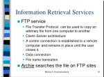 information retrieval services