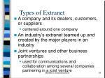 types of extranet