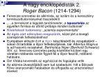 a nagy enciklop dist k 2 roger bacon 1214 1294