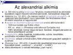 az alexandriai alk mia