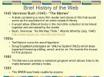 brief history of the web