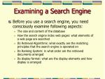 examining a search engine