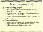 extranets continued