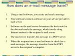 how does an e mail message travel