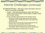 internet challenges continued72