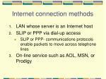 internet connection methods