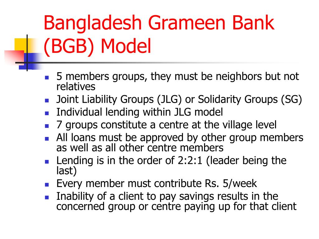 bangladesh grameen bank bgb model l.