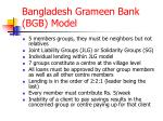 bangladesh grameen bank bgb model