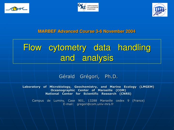 flow cytometry data handling and analysis n.