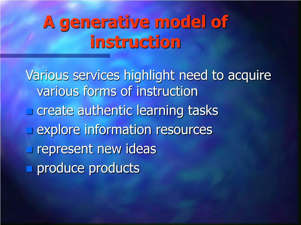 A generative model of instruction