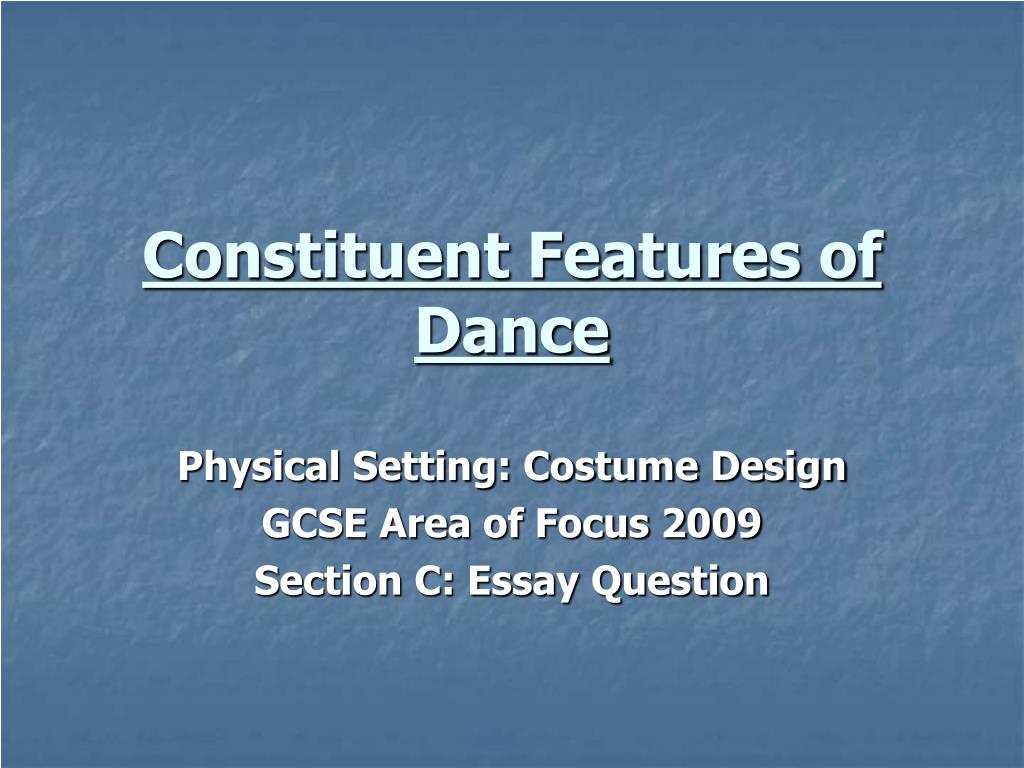 constituent features of dance l.