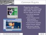 common plug ins