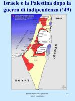 israele e la palestina dopo la guerra di indipendenza 49