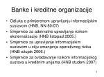 banke i kreditne organizacije