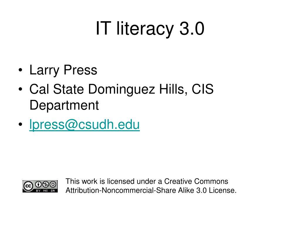 it literacy 3 0 l.