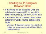 sending an ip datagram between hosts