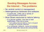sending messages across the internet the problems