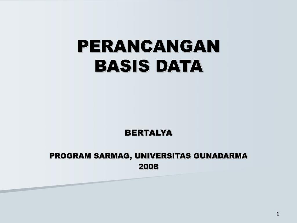 perancangan basis data l.