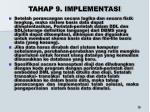 tahap 9 implementasi