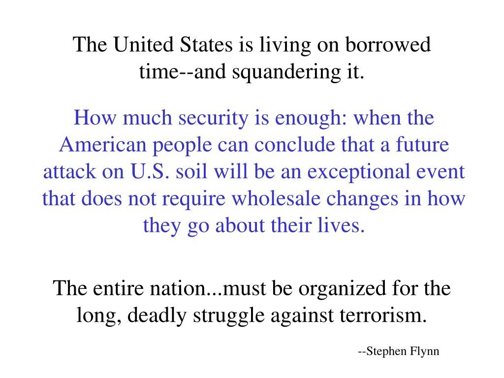 The United States is living on borrowed time‑‑and squandering it.