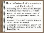 how do networks communicate with each other