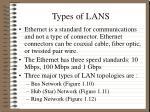 types of lans