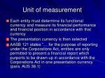 unit of measurement8