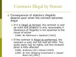 contracts illegal by statute