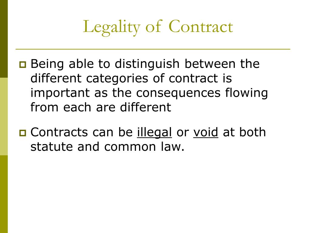 legality of contract l.