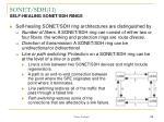 sonet sdh 11 self healing sonet sdh rings