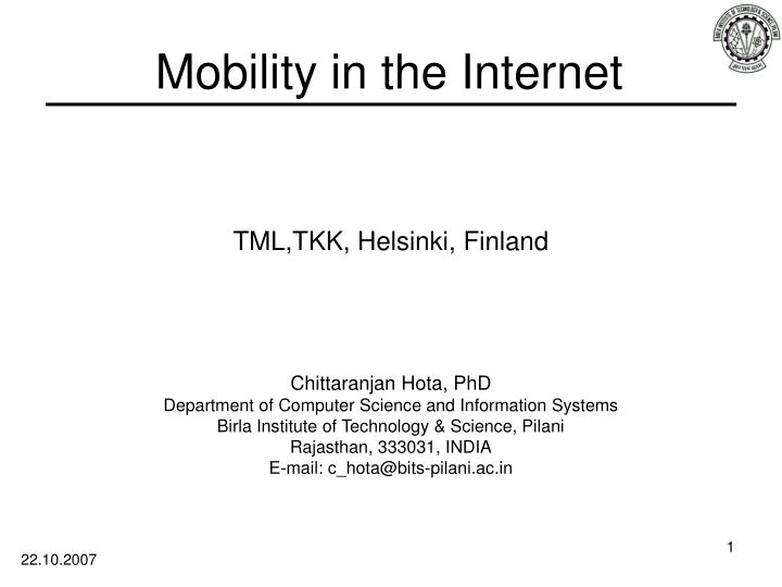 mobility in the internet n.