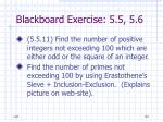 blackboard exercise 5 5 5 684