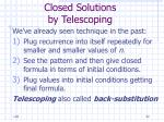 closed solutions by telescoping