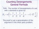 counting derangements general formula