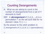counting derangements