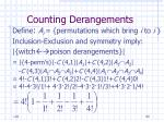 counting derangements80