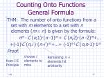 counting onto functions general formula