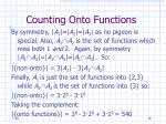counting onto functions76