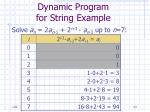 dynamic program for string example23