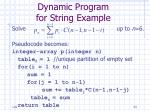 dynamic program for string example24