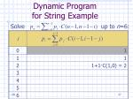 dynamic program for string example27