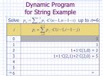 dynamic program for string example28
